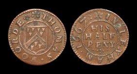 English Tokens - 17th Century - Kent - Lenham - Thomas