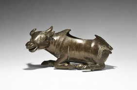 Chinese Han Style Bull Statue