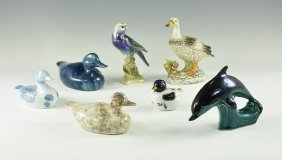Vintage Bird And Dolphin Group