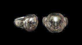 Post Medieval Silver St Nicholas Of Myra Ring