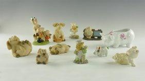 Vintage Pig Figure Group