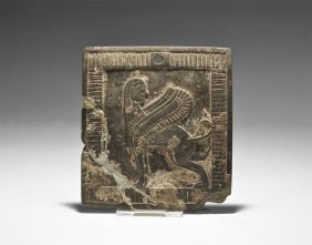 Phoenician Plaque With Winged Sphinx