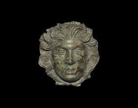 Roman Head Of Medusa Aplique