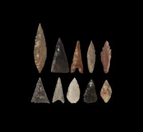 Stone Age Stone Arrowhead Group