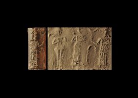 Western Asiatic Old Babylonian Cylinder Seal With