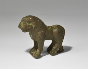 Islamic Seljuk Bronze Lion Figurine