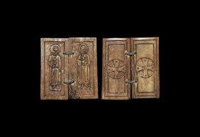 Byzantine Diptych Panels With Saints