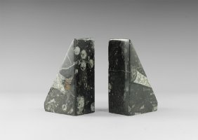 Natural History - Ammonite Fossil Book End Pair