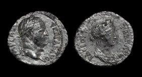 Ancient Roman Imperial Coins - Vespasian - Pax Denarius