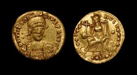 Ancient Roman Imperial Coins - Theodosius Ii - Victory