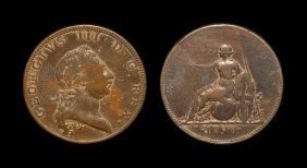 English Milled Coins - George Iii - 1790 - Pattern