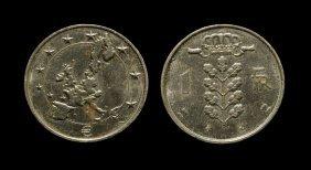 World Coins - Belgium - Undated - Pattern 1 Franc/euro