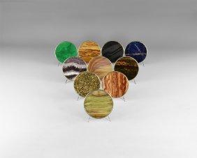 Natural History - 10 Polished Mineral Coasters