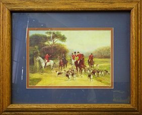Framed Print Of English Hunting Scene