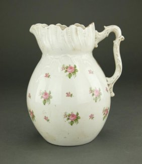 English Porcelain Water Pitcher
