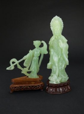 Two Chinese Carved Jade-like Pieces