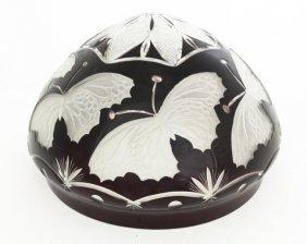 Art Nouveau Style Cut Glass Lamp Shade