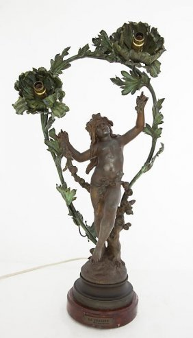 Bronze Lamp With Fairy