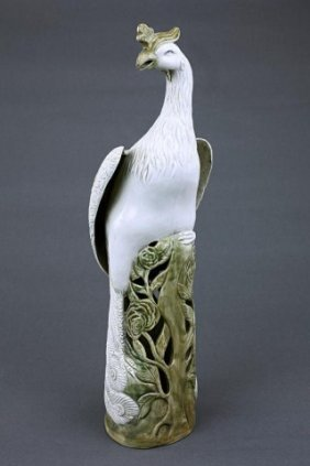 Chinese Porcelain Figure Of A Phoenix