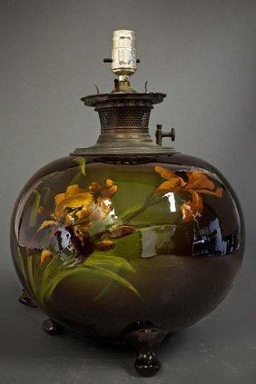 Weller Pottery Oil Lamp