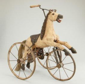 Antique Wooden Horse Tricycle