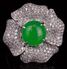 A Unique Jadeite Jade Ring