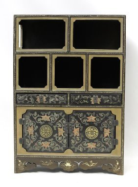 Antique Chinese Lacquer Display Cabinet