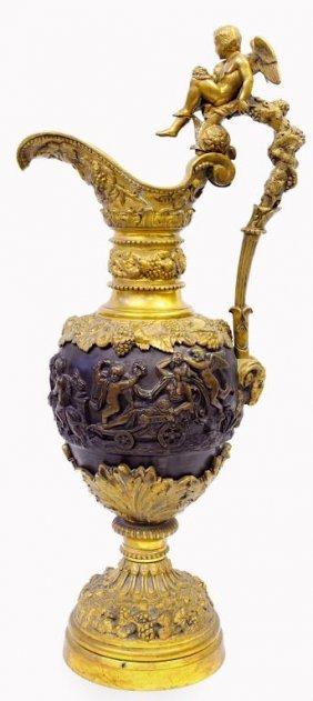 Large Renaissance Revival Bronze Ewer