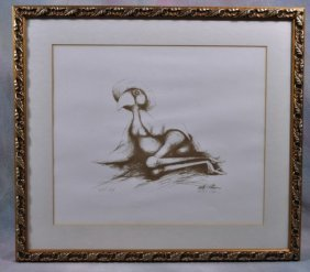 "Walter Palmer Lithograph Artist Proof ""Big Sister"