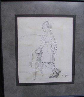 Ruth Monroe Augur, Pencil Drawing