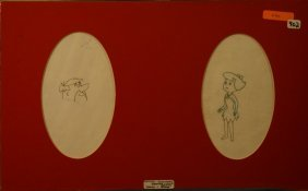 Flintstones Original Drawing,