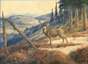 John W. Kyes, Oil On Canvas,