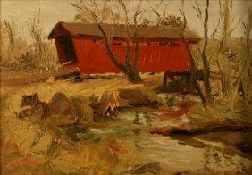 Bud Helbig (1919-2002), Oil On Board,