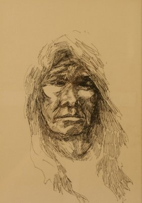 Charles Bear, Pen And Ink,
