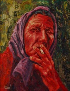 Bob Wood, Oil On Canvas,