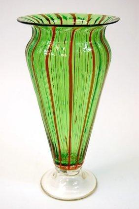 """Bohemia 12"""" Art Nouveau Art Glass Vase In Excellent"""