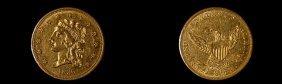 1836 U. S. 2 1/2 Dollar Gold Coin