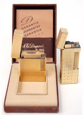 Pair Of Vintage Lighters St. Dupont And Dunhill