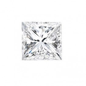 Genuine Princess Cut 0.40ctw Loose Diamond G To H, SI2