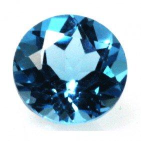 Natural 3.3ctw Blue Topaz Round 9x9 Stone