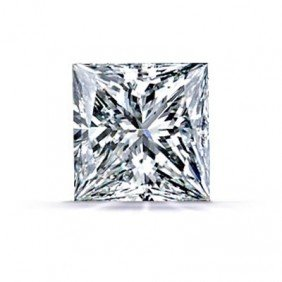 GIA Princess Certifie 0.95ctw Square Brillian Diam.SI1G