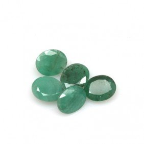 Natural 23.4ctw Emerald Oval (5) Stone