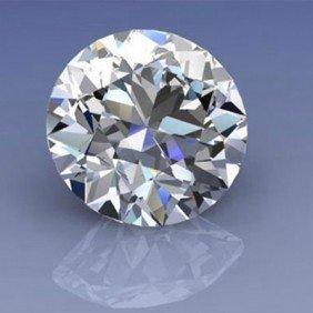 GIA Certified 0.71 Ctw Round Brilliant Diamond, SI1, K