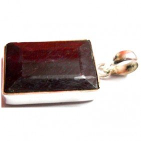 Natural 44.55 Ctw Ruby .925 Sterling Pendant