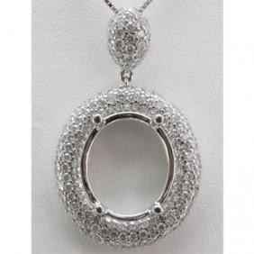 Genuine 1.35 Ctw Round Cut Diamond Pendant 18k
