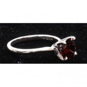 Natural 1.5ctw Garnet .925 Sterling Silver Ring