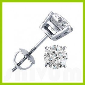 2.50 Ctw Round Cut Diamond Stud Earrings G-H, SI-I