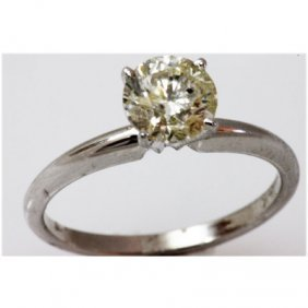 Diamond 1.51 Ctw Solitaire 14k White Gold