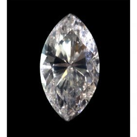 EGL Certified 0.62 Ct MARQUISE BRILLIANT  E, VS2