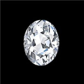 EGL (USA) Certified 0.68 Ct OVAL BRILLIANT  H, SI1